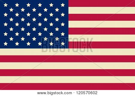 American Flag, Usa Flag. Vector Illustration.
