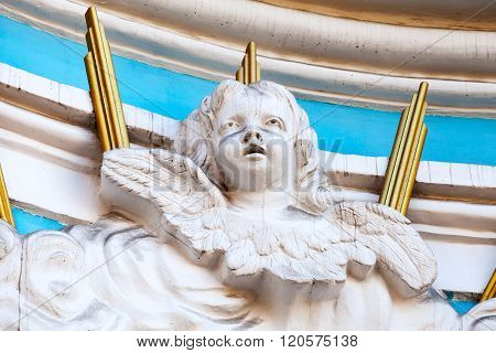 Angel Sculptural Portrait As A Decoration Detail