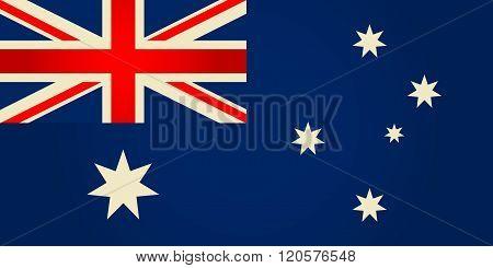 Australia Flag. Vector Illustration.