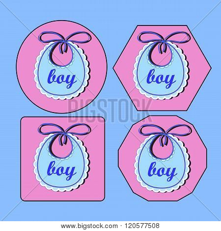 Baby bib for boy