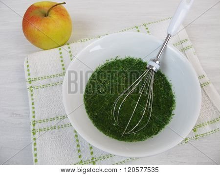 Vinaigrette dressing with apple vinegar