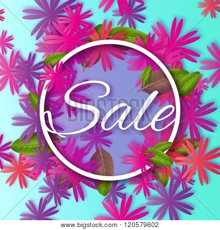Abstract Colorful Spring Summer Sale colorful banner for business.