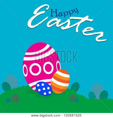 Happy Easter!! - Easter Eggs Hunting Field