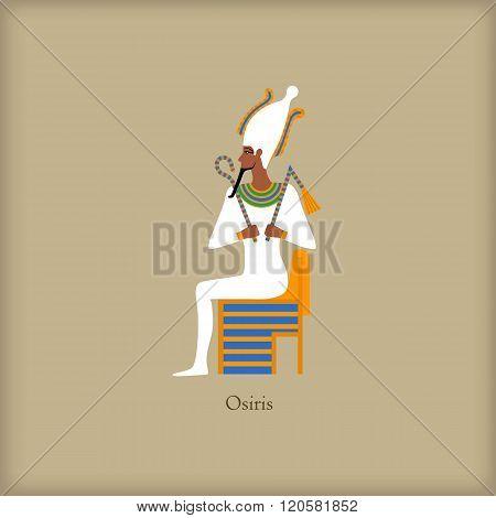 Osiris - God of the underworld icon, flat style