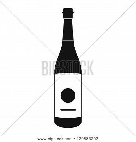 Sake bottle icon, simple style
