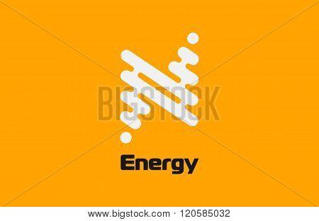 Energy logo design. Flash logo. Line logo concept. Creative logo. Geometrical logo.