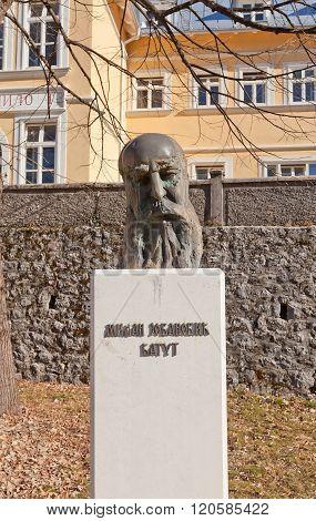 Monument To Milan Jovanovic Batut In Cetinje, Montenegro