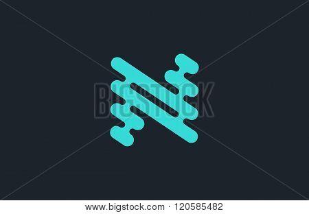 N logo design. Line logo. Creative logo. N letter