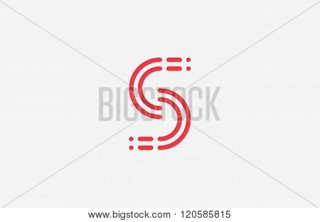 s logo design. s letter element. line logo design. creative logo