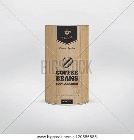 Mockup coffee packaging.