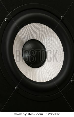One Audio Speaker Close Up