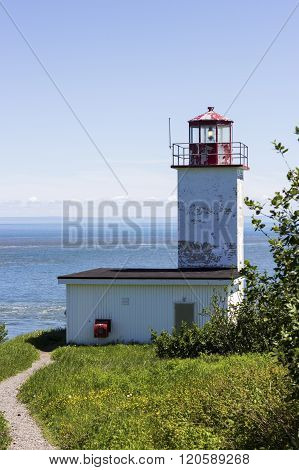 Quaco Head Lighthouse in New Brunswick in Canada