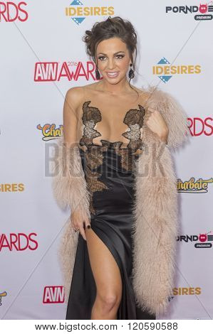 LAS VEGAS - JAN 23 : Adult film actress Abigail Mac attends the 2016 Adult Video News Awards at the Hard Rock Hotel & Casino on January 23 2016 in Las Vegas Nevada.