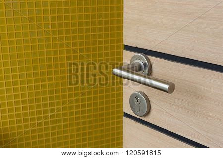Door Handle And  Key Hole