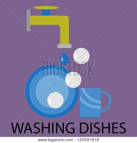 Washing Dishes Design Flat