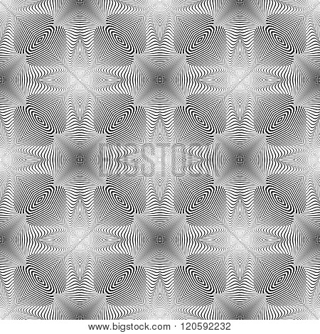 Design Seamless Monochrome Illusion Background
