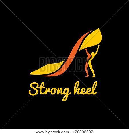 Vector logotype women's high heel shoes