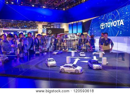 LAS VEGAS - JAN 08 : The Toyota Kikai Concept car at the CES Show in Las Vegas Navada on January 08 2016. CES is the world's leading consumer-electronics show.
