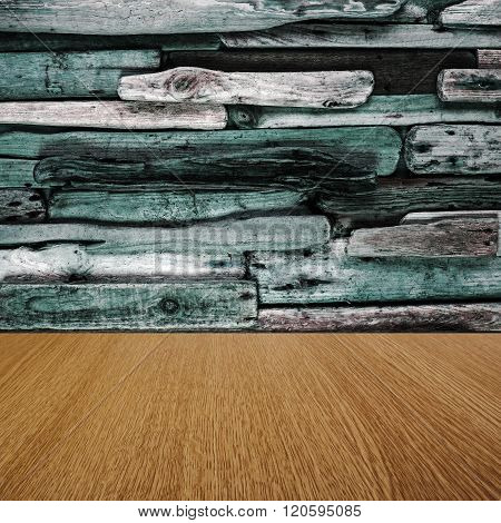 Green driftwood and natural pine imaginative background texture, with business product / sales items / text space for your design.