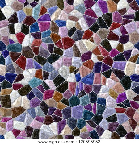 Dark Color Full Marble Irregular Plastic Stony Mosaic Seamless Pattern Texture Background