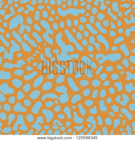 Seamless vector background with coral