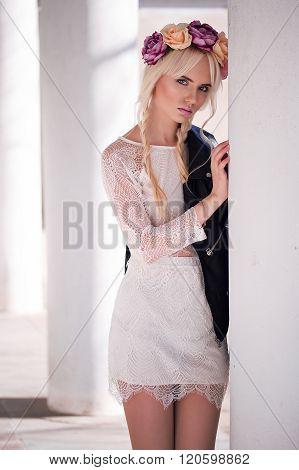 Portrait Of Lovely Model Outdoors