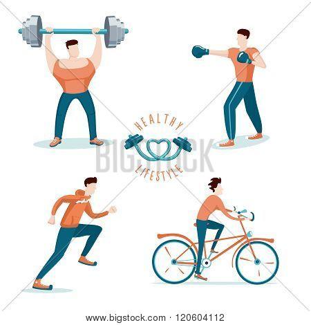 Workout of a man