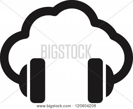 Cloud Music Vector Concept Icon . Concept Of Graphic Clipart Work