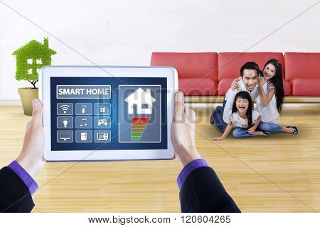 Applications Of Smart House With Cheerful Family