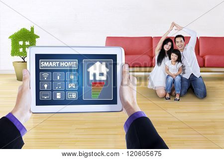 Digital Tablet With App Of Smart Home Controller