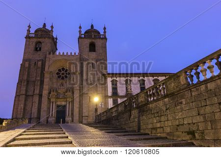 Cathedral in Porto in Portugal in Europe