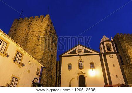 Medieval Obidos In Portugal