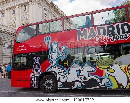 Red Double-decker Tourist Bus, Madrid