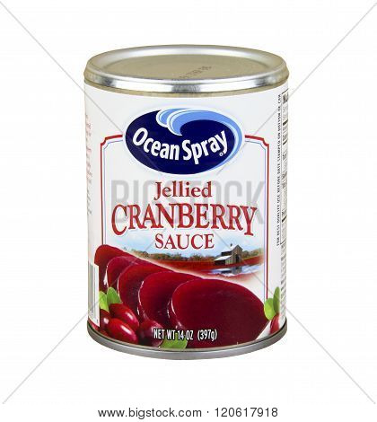 Can Of Ocean Spray Cranberry Sauce