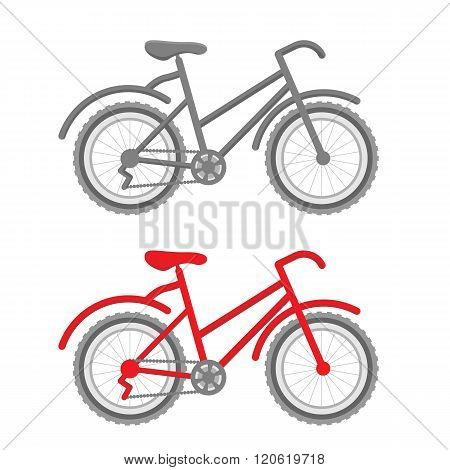 Red and Gray Bike