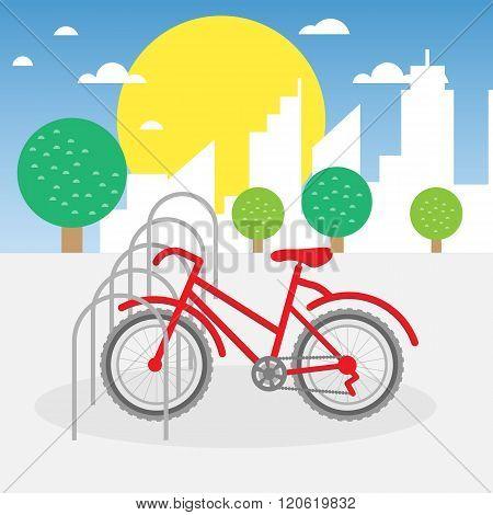 Bike parking illustration