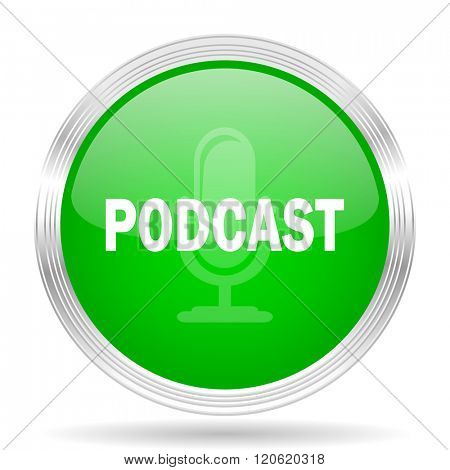 podcast green modern design web glossy icon