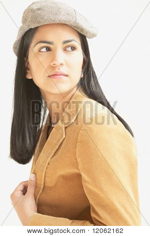 Young woman looking sideways