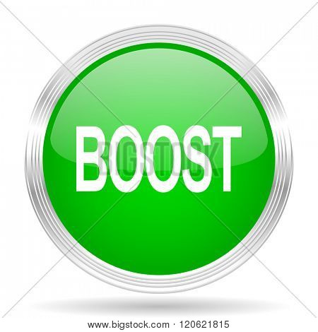boost green modern design web glossy icon