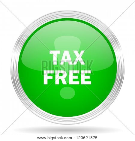 tax free green modern design web glossy icon