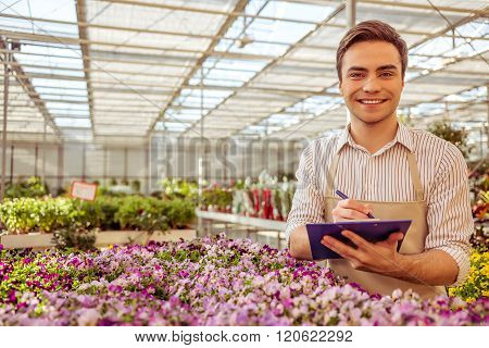 Man In Orangery