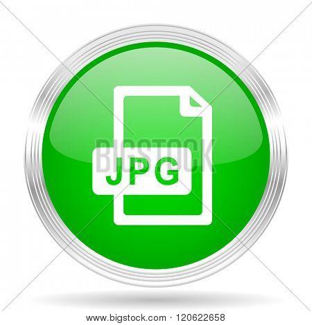 jpg file green modern design web glossy icon