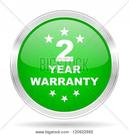warranty guarantee 2 year green modern design web glossy icon