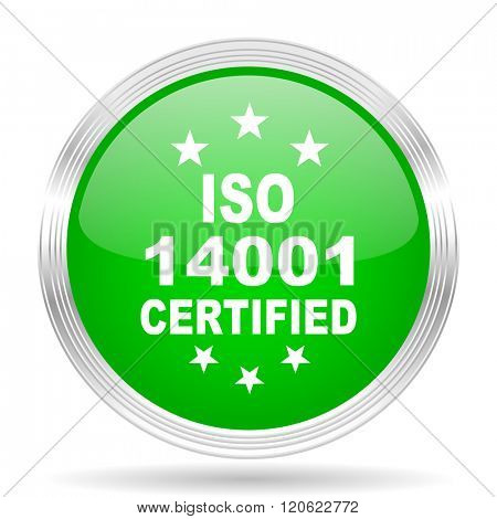 iso 14001 green modern design web glossy icon