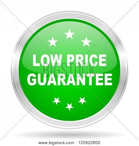 low price guarantee green modern design web glossy icon
