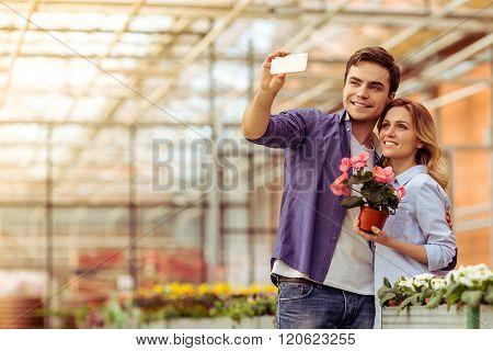 People In Orangery