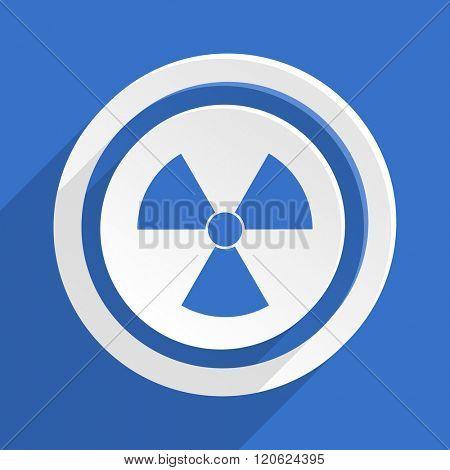 radiation blue flat design modern icon