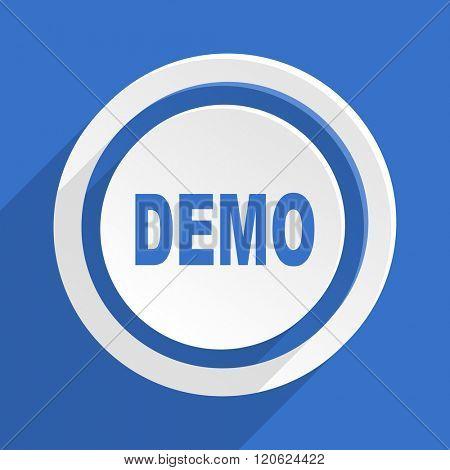 demo blue flat design modern icon