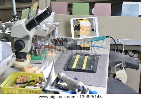 Table With Dental Tools