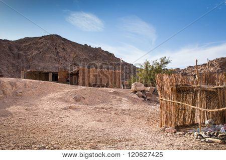 Bedouin Village In The Desert, Egypt